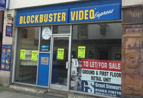 Closed Blockbuster in Fort William