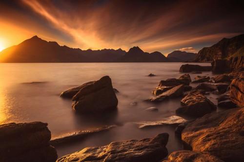 Sunset at Elgol Beach, Isle of Skye