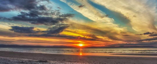 Sunset at Nairn Beach