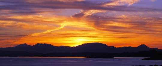 Sunset at Arduaine, Argyll