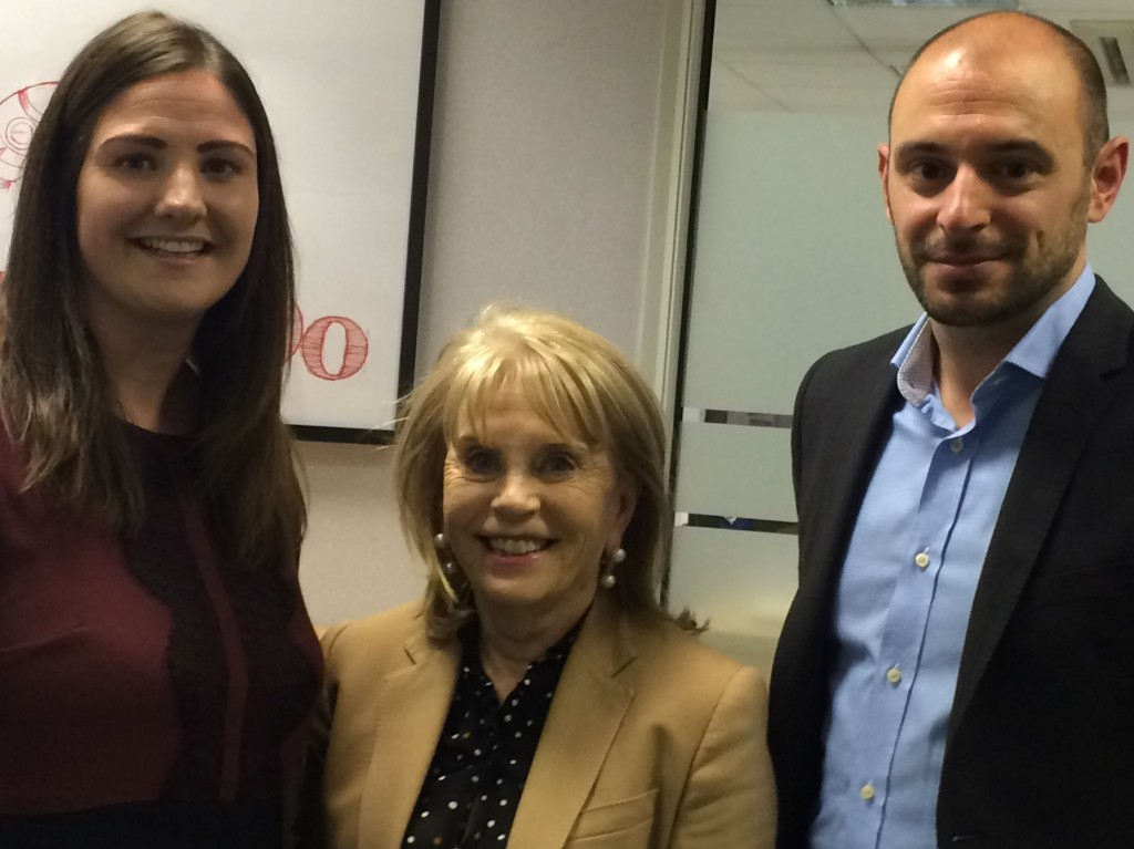 Picture - Laura Saunders, HIJOBS Commercial Lead, Dr. Ann Gloag, Christopher Snelgrove, HIJOBS Technical Lead